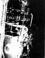 The 6-cyl diesel engine of a Koryu type submarine, looking aft, Oct-Dec 1945, copied from the U.S. Naval Technical Mission to Japan Report S-01-7, Jan 1946, pg 118, fig 128