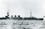 Light cruiser Kuma on patrol off Tsingtao, China, 1930