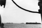 Carrier La Fayette and other French warships off Nha Trang, Vietnam, 15-19 Apr 1953