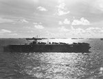 USS Langley, USS Hornet, and other warships at Ulithi, Caroline Islands, 30 Oct 1944