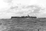 USS Langley underway in the Pacific Ocean, 27 Mar 1945