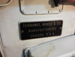 Fairbanks-Morse plate on one of museum ship Ling