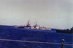 Louisville in a Pacific anchorage in 1944