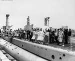 Visitors aboard USS Macabi at Mare Island Naval Shipyard, California, United States, Armed Forces Day, 19 May 1956