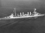 USS Marblehead underway, 10 May 1944