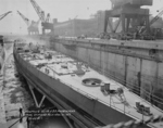 Scrapping of Marblehead in Dry Dock No. 4, Philadelphia Navy Yard, Philadelphia, Pennsylvania, United States, 10 Jan 1946