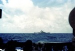 Battleship Massachusetts maneuvering off Casablanca, Morocco, 8 Nov 1942, as seen from destroyer Mayrant