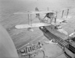 Walrus seaplane on the catapult of HMS Mauritius, date unknown