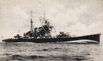 Japanese heavy cruiser Maya as seen on a 1930s postcard