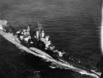 USS Miami underway, early 1944; note Camouflage Measure 32 Design 1d