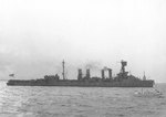 USS Milwaukee off the New York Navy Yard, United States, 7 Jan 1942