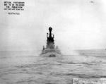 Stern view of USS Mingo, off Mare Island Naval Shipyard, California, United States, 3 Feb 1944