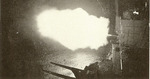 Montpelier firing her guns during the Battle of Empress Augusta Bay, night of 1-2 Nov 1943