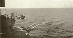 SOC Seagull aircraft being catapulted from USS Montpelier, circa 1943