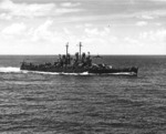 Light cruiser Montpelier underway from the Marshall Islands en route for Saipan, Mariana Islands, 11 Jun 1944