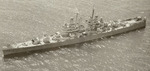 Aerial view of light cruiser USS Montpelier, circa 1943