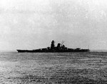 Musashi underway off Brunei, Borneo, 22 Oct 1944