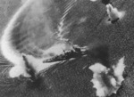 Nachi under aerial attack, Manila Bay, Philippine Islands, 5 Nov 1944