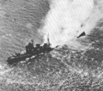 Nachi broken up and sinking, Manila Bay, Philippine Islands, 5 Nov 1944