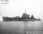 Nashville off the Mare Island Navy Yard, California, United States, 1 Apr 1942
