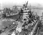 New Mexico at the Norfolk Navy Yard, Portsmouth, Virginia, United States, 31 Dec 1941