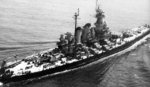 USS North Carolina off New York, New York, United States, 3 Jun 1946, photo 3 of 3; photograph taken by an aircraft from Naval Air Station, New York