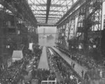 North Carolina shortly after launching, New York Navy Yard, Brooklyn, New York, United States, 13 Jun 1940