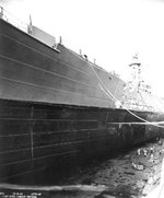 USS North Carolina in drydock No. 1 of Pearl Harbor Navy Yard, US Territory of Hawaii, 8 Nov 1942
