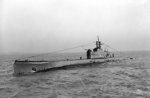 Submarine Oberon underway off Spithead, Hampshire, England, United Kingdom, 21 Jan 1943