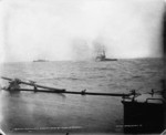 USS Oregon bombarding Spanish shore batteries at Santiago, Cuba, 1898