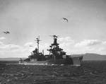 Pensacola in Puget Sound, en route for disposal as target, 9 Nov 1948