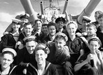Sailors of HMAS Perth in the Mediterranean Sea, March 1941