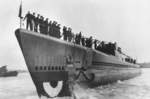 Launching of submarine Pintado, Portsmouth Naval Shipyard, Kittery, Maine, United States, 15 Sep 1943