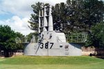 Conning tower of submarine Pintado on display at the National Museum of the Pacific War, Fredericksburg, Texas, United States, 9 Jul 2003
