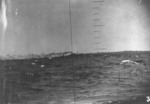 Wotje Atoll, Marshall Islands seen through the periscope of USS Pollack, mid-May 1943