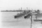 USS Pollack and USS Plunger at Portsmouth Naval Shipyard, Kittery, Maine, United States, circa Apr 1937