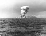 Princeton burning after Japanese attack off Leyte, 24 Oct 1944, 1 of 4