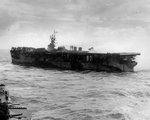 Birmingham withdrawing from Princeton after she was abandoned, 24 Oct 1944. Photo 3 of 3