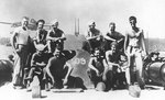 Lieutenant John F. Kennedy (far right) and other crew members of PT-109, 1943