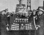 Decommissioning ceremony of USS Puffer, Mare Island Naval Shipyard, California, United States, 12 Jul 1946