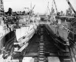 Submarines Sawfish, Pargo, Puffer, and Steelhead at Mare Island Naval Shipyard, California, United States, 14 Feb 1947