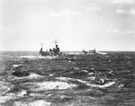 Quincy and Tuscaloosa near Strait of Magellan, 14 May 1939