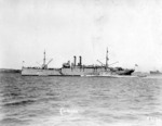 Submarine tender USS Camden with submarines R-1, R-3, R-8, R-4, R-2, and R-10, San Pedro, California, United States, 1921