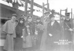 Launching ceremony of submarine R-5, Fore River Shipbuilding Company yard, Quincy, Massachusetts, United States, 24 Nov 1918