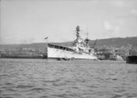 HMS Repulse docked at Haifa, Palestine, Jul 1938, photo 4 of 4