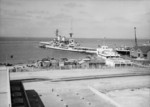 HMS Repulse docked at Haifa, Palestine, Jul 1938, photo 3 of 4