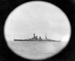 Repulse as seen thru a porthole of another ship, circa 1922-1924