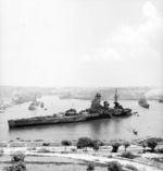 HMS Rodney at Valetta, Malta, Jul 1943