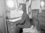 Chaplain Whitestone of the Roman Catholic faith aboard HMS Rodney, 1940