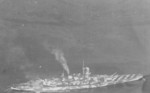 Aerial view of battleship Roma, date unknown